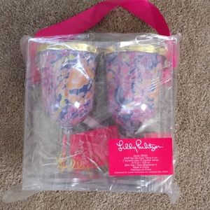 Lilly Pulitzer wine sippy cups